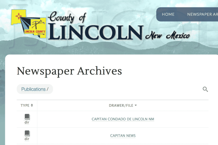 Lincoln County Archives