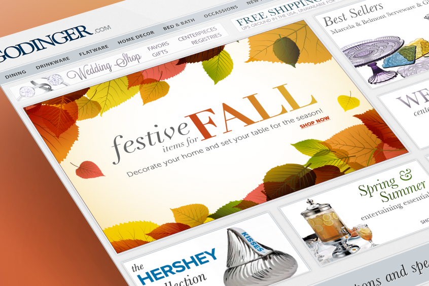Godinger Web Design - Fall Promo