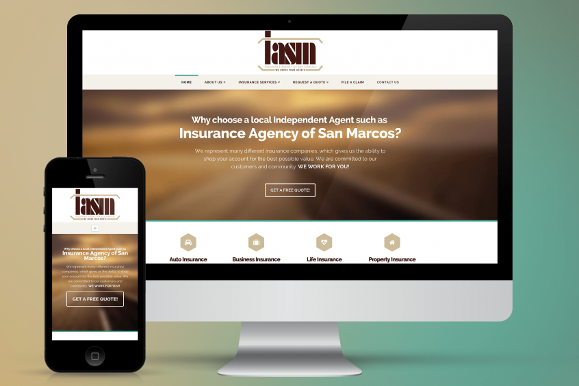Insurance Agency of San Marcos Website Design